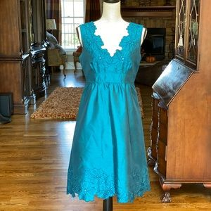 Jessica Howard Teal Party Dress